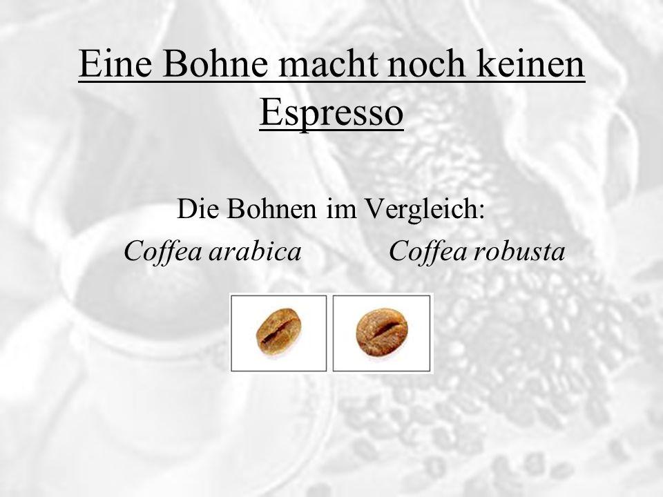 Coffea arabica liefert nur geringe bis mittlere Erträge und ist recht empfindlich gegen Schädlinge und Krankheiten Benötigt ein gemäßigtes Klima und viel Pflege beim Anbau Der Koffeingehalt liegt nie über 1,5 Gewichtsprozent