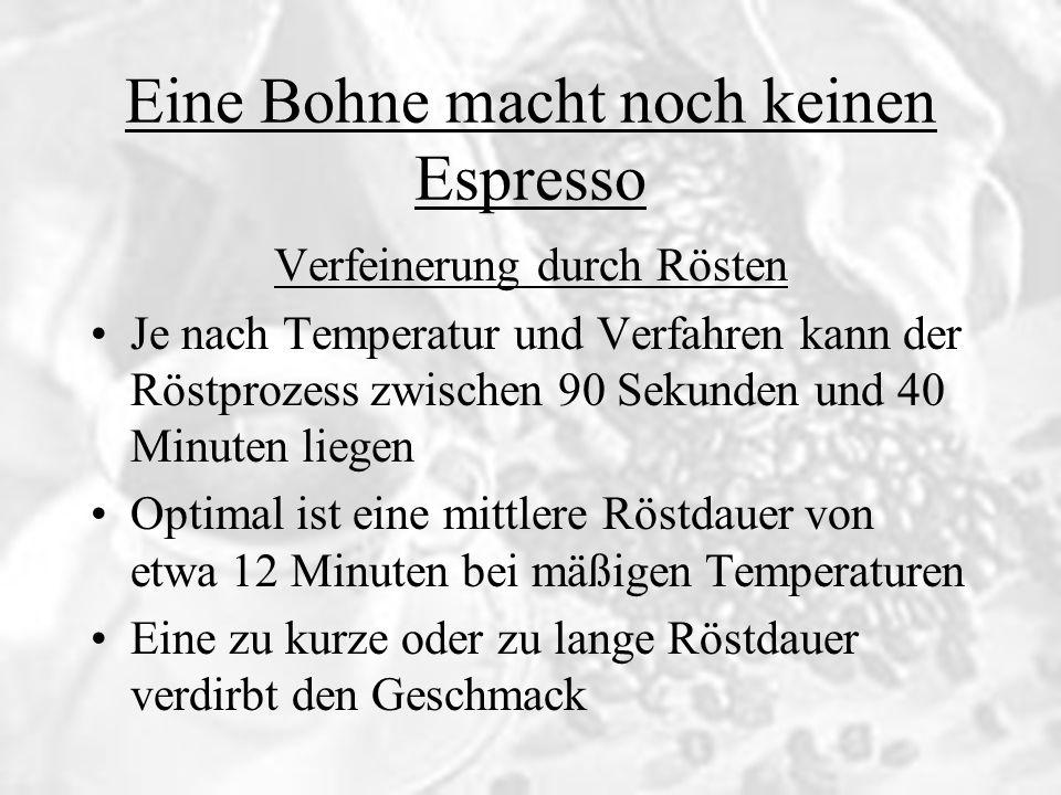 Eine Bohne macht noch keinen Espresso Wie viele Bohnen braucht man eigentlich für einen Espresso.