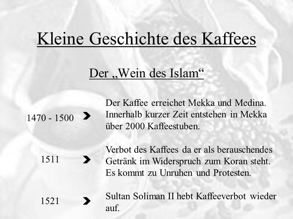 Kleine Geschichte des Kaffees 15./16.Jh. 17 Jh.