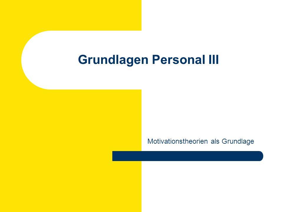 Rüdiger Klimecki: Personal und Organisation WS 2007/2008 Theorien der Motivation I.