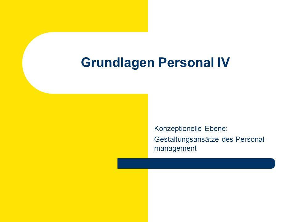Rüdiger Klimecki: Personal und Organisation WS 2007/2008 Das Harvard-Konzept Interessengruppen Anteilseigner, Management, Mitarbeiter, Gewerkschaften, Staat, Kommune usw.