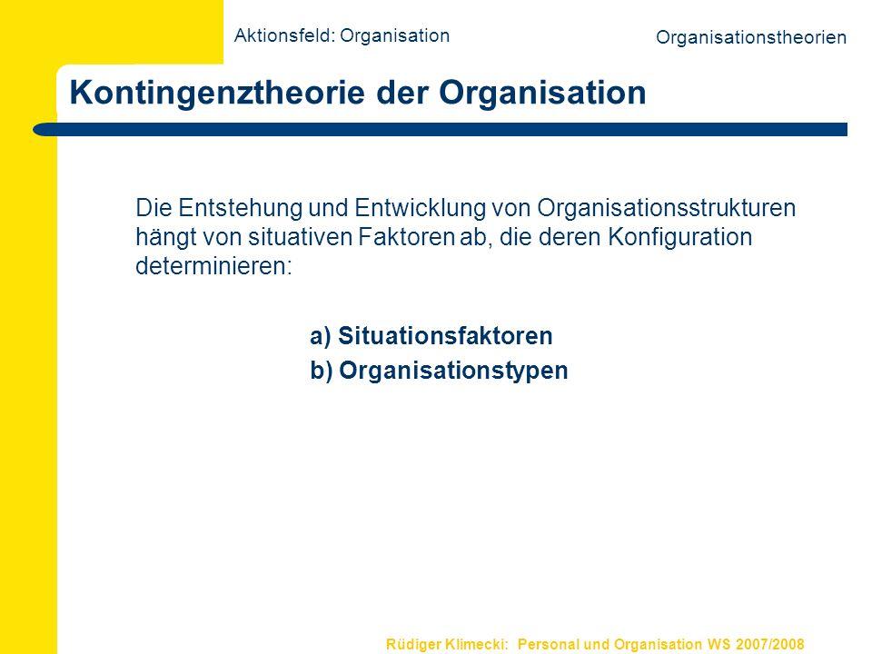 Rüdiger Klimecki: Personal und Organisation WS 2007/2008 Forschung im Rahmen d.