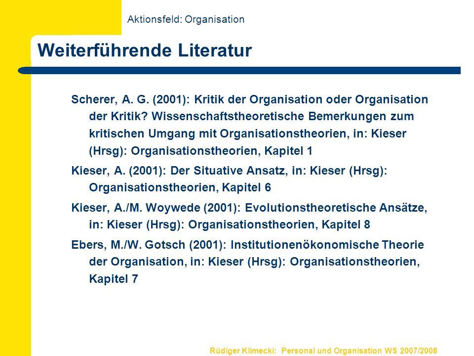 Grundlagen Organisation II Organisationsdesign Organisationsmodelle