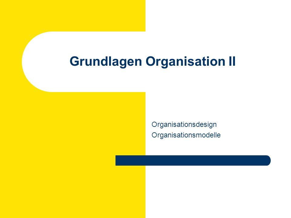 Rüdiger Klimecki: Personal und Organisation WS 2007/2008 Organisationsdesign: Organisieren Gegenstandsbereich Management im Aktionsfeld Organisation (= Organisationsstrukturgestaltung) hat die Strukturierung der in einer Organisation anfallenden Aufgaben zum Gegenstand.