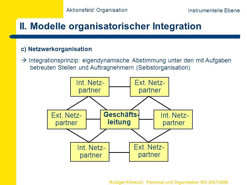 Rüdiger Klimecki: Personal und Organisation WS 2007/2008 III.