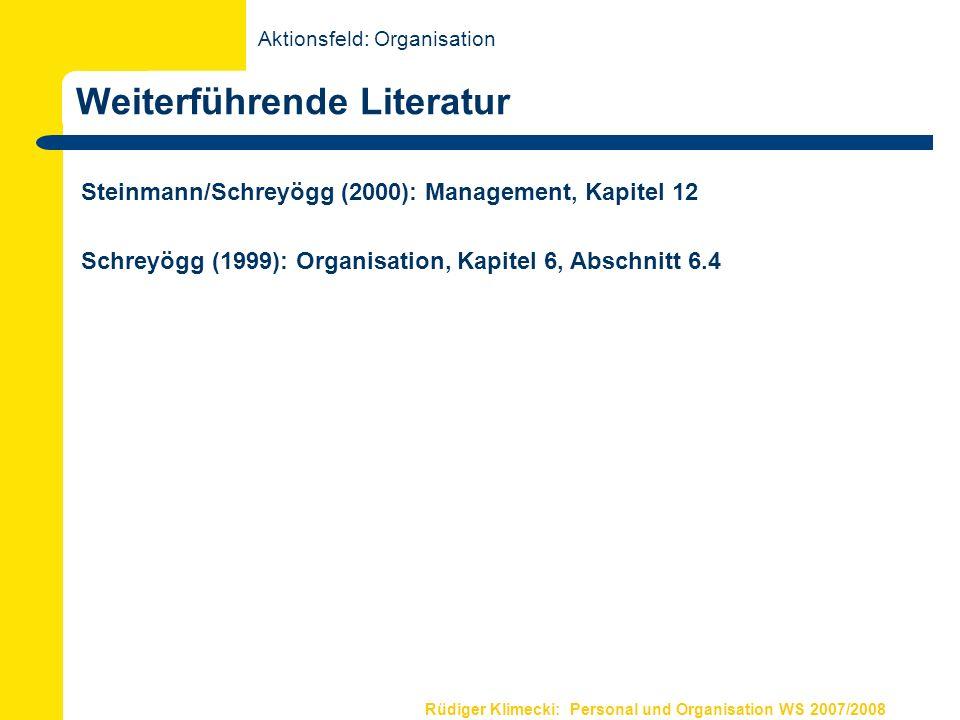 Grundlagen Organisation IV Organisationales Lernen und Wandel