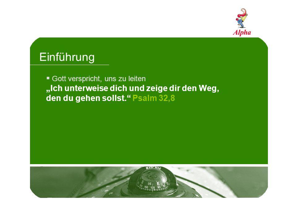 Einführung Gott verspricht, uns zu leiten.Gott hat einen guten Plan für unser Leben.