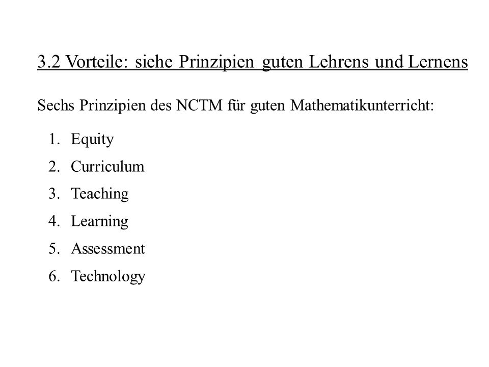 Zehn Merkmale guten Unterrichts (Hilbert Meyer): 1.