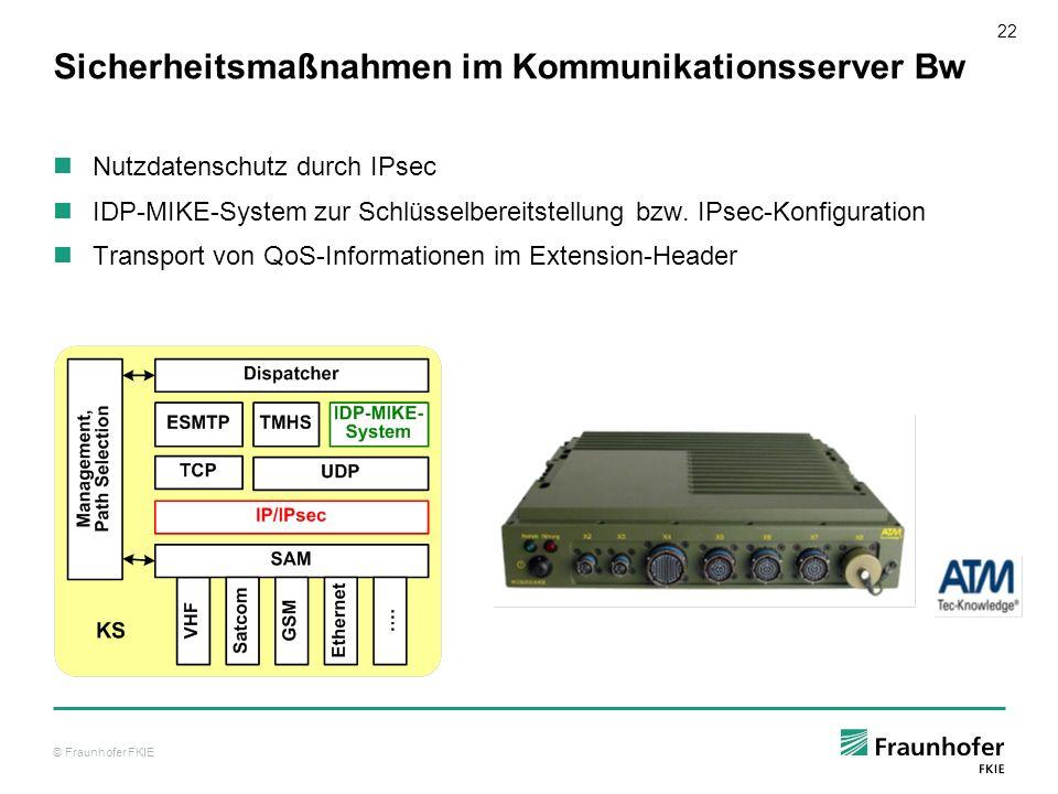 © Fraunhofer FKIE 23 INSC Untersuchungen zu gemischten IPv4 und IPv6 Netzen INSC Testnetz unter dem Gesichtspunkt der v4/v6 Migration bzw.