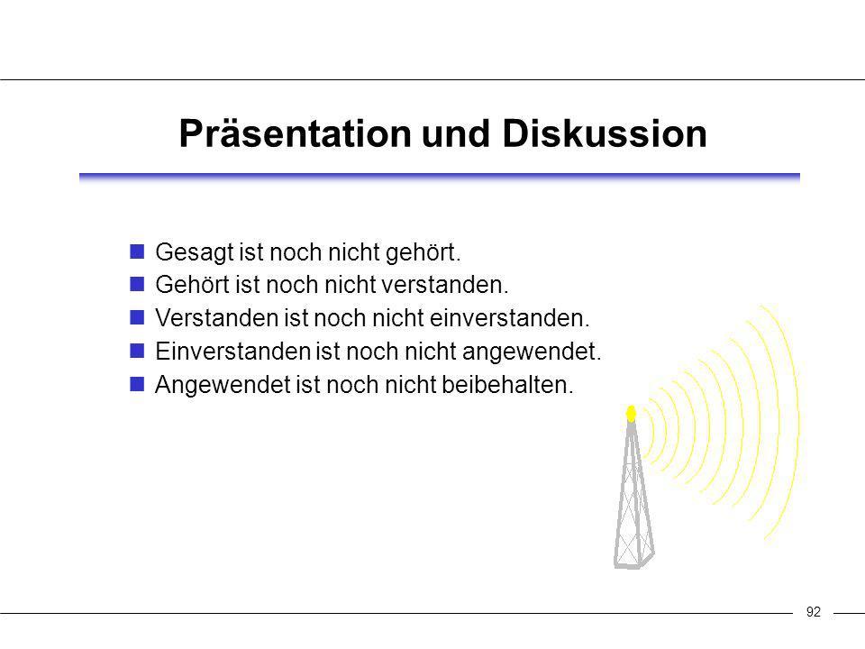 93 Präsentation und Diskussion Der Vortrag stellt nur einen kleinen Teil der Gesamtpräsentation dar.