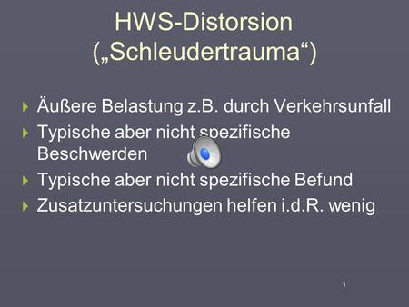 "HWS-Distorsion (""Schleudertrauma"")"