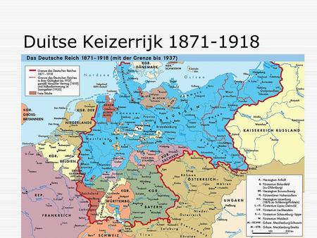 Duitse Keizerrijk 1871-1918. 1919: Versailles, art. 231: The Allied and Associated Governments affirm and Germany accepts the responsibility of Germany.