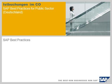 Istbuchungen im CO SAP Best Practices for Public Sector (Deutschland) SAP Best Practices.