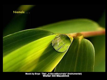 "Weiter mit Mausklick Music by Enya · Titel: ""A day without rain"" (Instrumental) Niemals...."