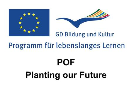 POF Planting our Future. 1996 – 2013 Comenius-Projekte Virgil 1 + 2 Coping with Uneasiness at School (Wohlfühlen in der Schule) Europe in a Salad Bowl.