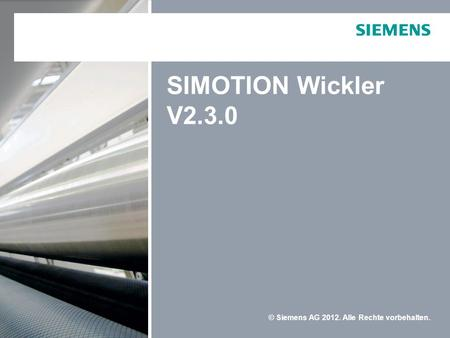 SIMOTION Wickler V2.3.0.