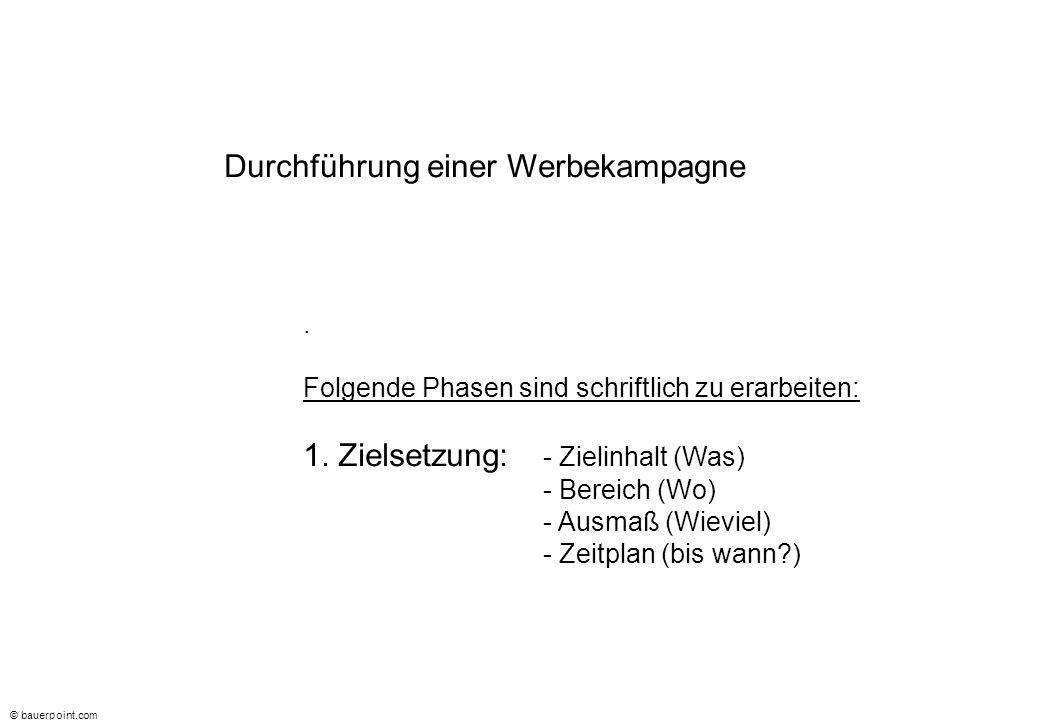 © bauerpoint.com Durchführung einer Werbekampagne 2.