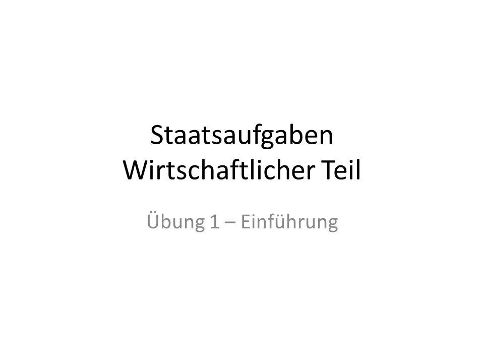 Der öffentliche Sektor Staatsausgaben in Deutschland (2008) 1 090 Mrd.