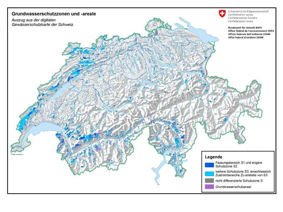 PositionWert Grundwasserschutzzonen CH42% im Wald Trinkwasseranteil Wald40%, 400 Mio.