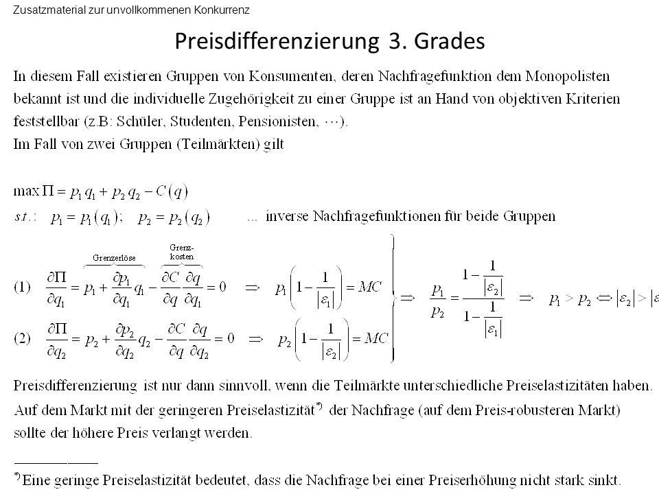 Preisdifferenzierung 3.
