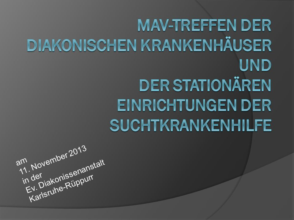 Folgende Tagesordnung ist vorgesehen: Top 1:Begrüßung Top 2:Festlegung des Termins für das nächste Treffen Top 3:Aufnahme von Nachträgen in die Tagesordnung MAV-Treffen der diakonischen Krankenhäuser und der stationären Einrichtungen der Suchtkrankenhilfe am 11.11.20132