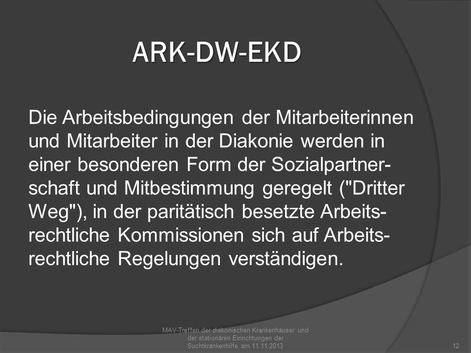 ARK-DW-EKD Die Arbeitsrechtliche Kommission des Diakonischen Werkes der EKD wurde im September 2010 neu gewählt.