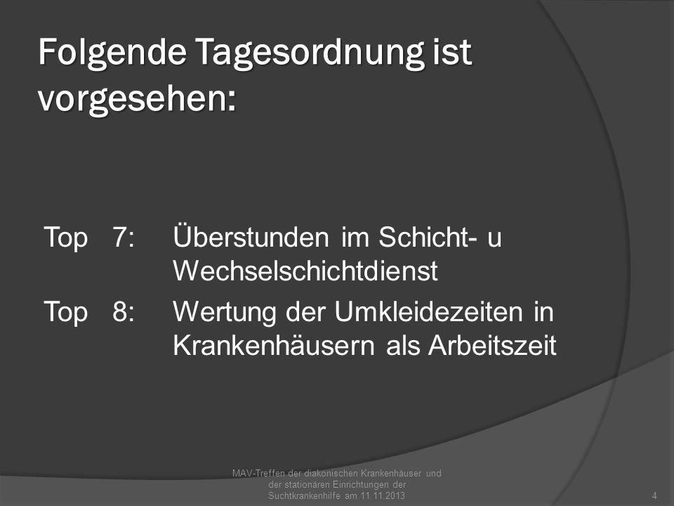Folgende Tagesordnung ist vorgesehen: Top 9:Pflegekammer in Baden- Württemberg .