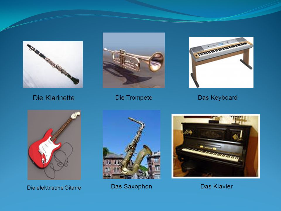 Hören Sie bitte noch einige Musikstücke verschiedener Musikrichtungen.