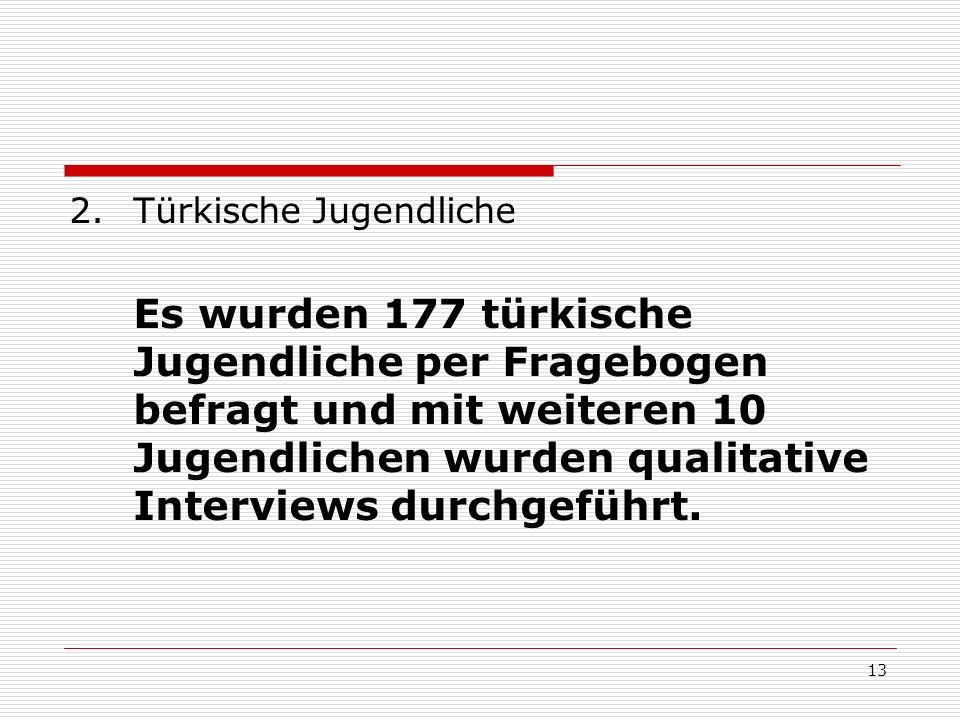 14 77% der befragten Jugendlichen leben im Kreis Offenbach, 22% in der Stadt Offenbach Kontakte zum deutschen Verein: 58% der befragten Jugendlichen besuchen nie deutsche kulturelle Vereine und 47% besuchen nie türkische kulturelle Vereine
