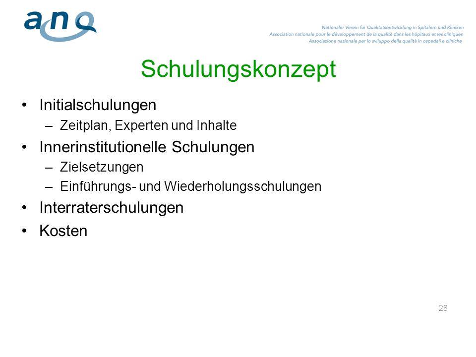 Was ist geplant in den Kliniken?: Zur Einführung der Messungen.