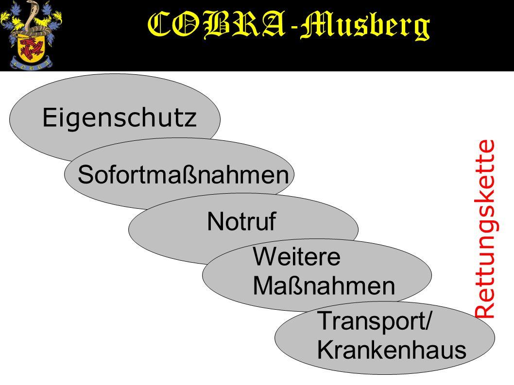 Notruf Feuerwehr: 112 Rettungsdienst: 112 Polizei: 110 Krankentransport: Vorwahl/ 19 222 COBRA-Musberg