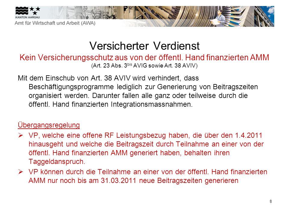 9 Versicherter Verdienst Keine Mitberücksichtigung von Kompensationszahlungen im versicherten Verdienst (Art.