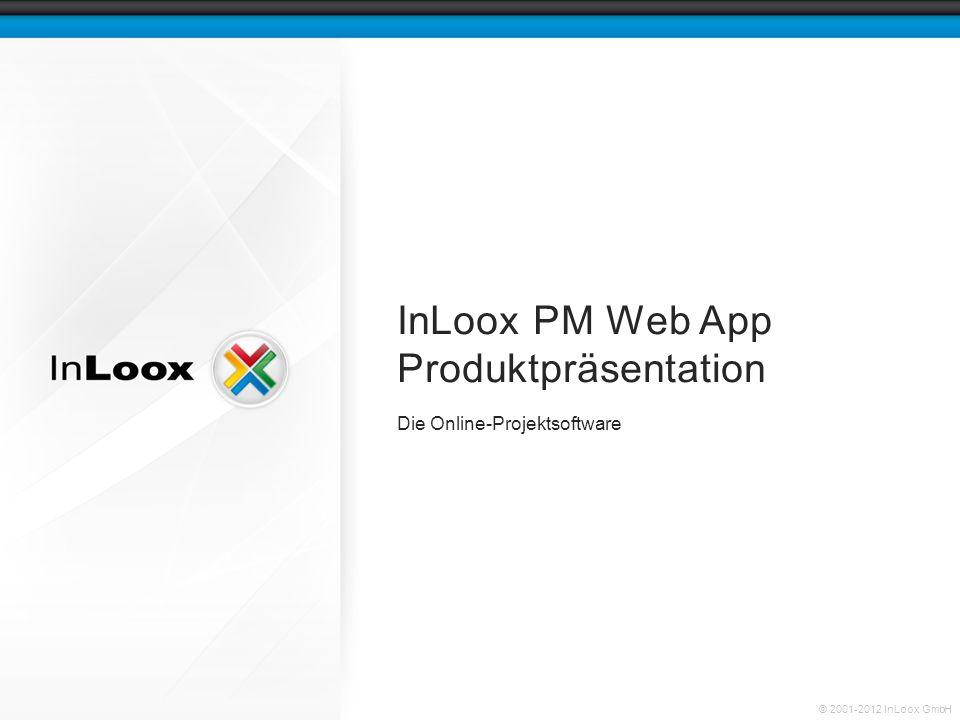 Seite 2 InLoox PM Web App Produktpräsentation © 2001-2012 InLoox GmbH Projektmanagement im Web Nutzungsmodelle Plattform- und Geräteunabhängigkeit Ein Projekt im Detail Inhalt
