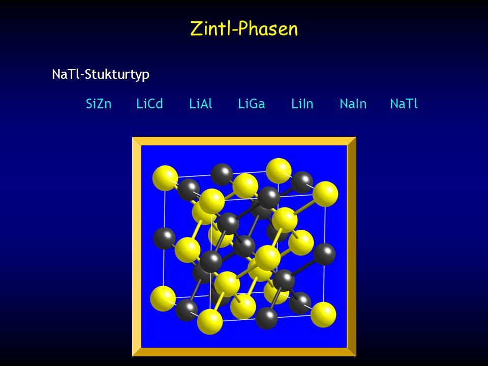 Laves-Phasen 1:2 intermetallische Verbindungen mit unterschiedlich grossen Atomen MgCu 2 Typ(Cu < Mg) Cu Atome bilden ein Kagomé-Netz Mg Atome bilden ein Diamantstruktur