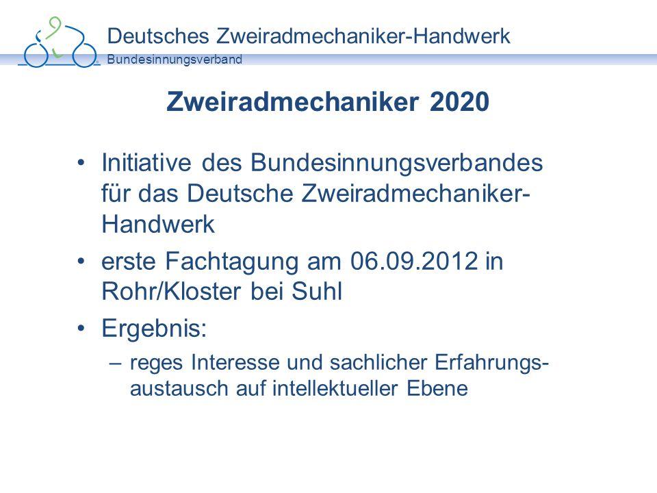 Deutsches Zweiradmechaniker-Handwerk Bundesinnungsverband Zweiradmechaniker 2020 Lastenheft: –Welche Anforderungen und Bedarfe sind heute bereits in der Branche erkennbar.