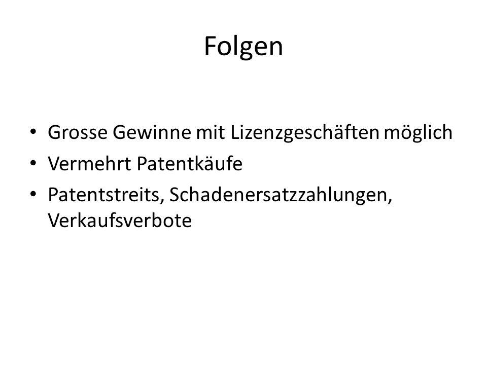Verbesserungsansätze Patente abschaffen.