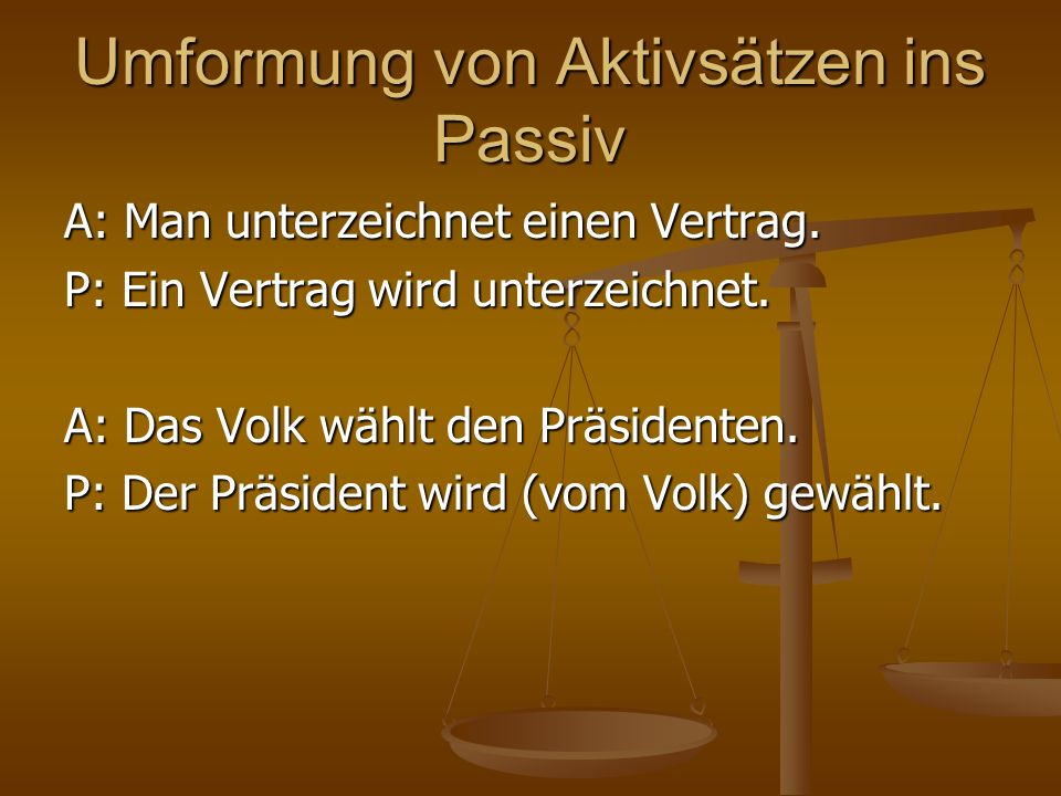 Übersetzung ins Kroatische Wenn es möglich ist, sollen deutsche Passivsätze durchs kroatische AKTIV übersetzt werden.