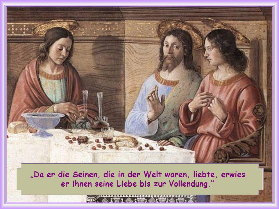Dopo aver amato i suoi che erano nel mondo, li amò sino alla fine (Gv 13, 1).