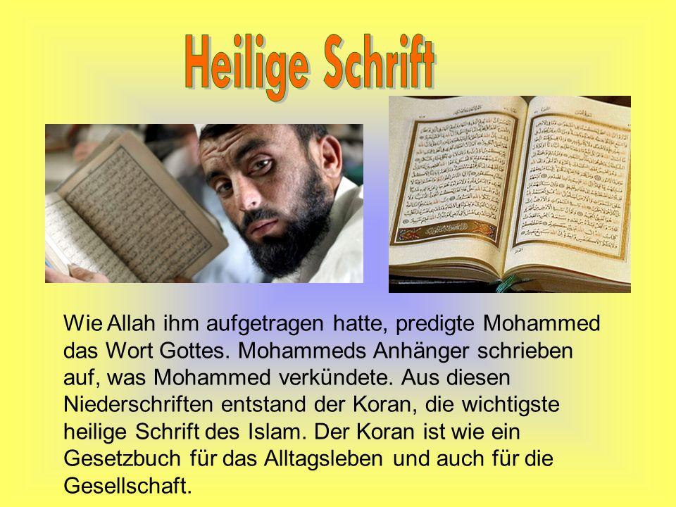Glaubensrichtungen Es gibt viele verschiedene Meinungen unter den Muslimen, wie der Koran zu verstehen ist.