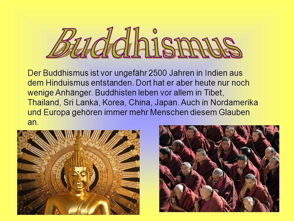Im Buddhismus gibt es viele heilige Bücher.
