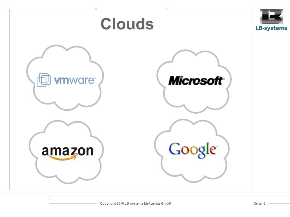 Copyright 2010 LB-systems Meßgeräte GmbHSeite 9 ServicesServices User Bedarf Cloud