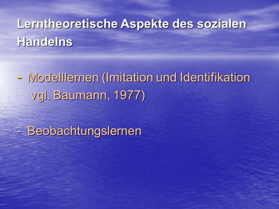 Beobachtungslernen gliedert Bandura (1979) in vier Teilprozesse: 1.