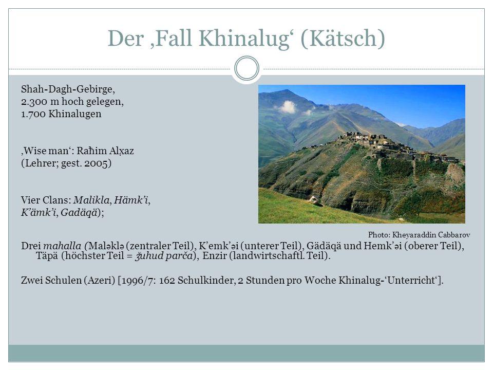 Historisierung: Der Stein von Khinalug