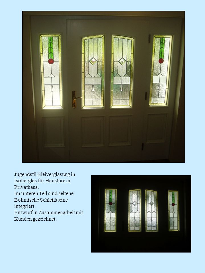 Verglasung der Fenster einer alten Villa in Melk.