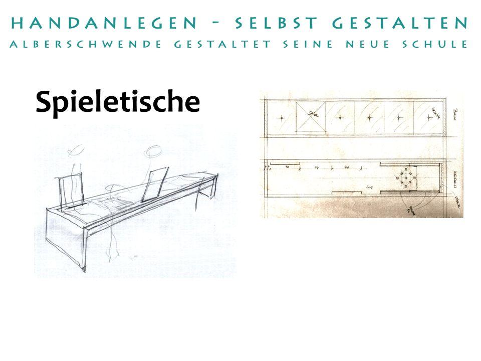 Handwerksbetrieb: Umsetzung: Tischlerei Valentin Winder Gebhard Huber Betreuerin:Anna Martina Meusburger Spieletische