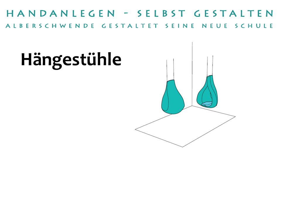 Handwerksbetrieb: Umsetzung: Raumausstattung Bereuter Konrad Böhler Betreuer/in:Petra Raid Hängestühle