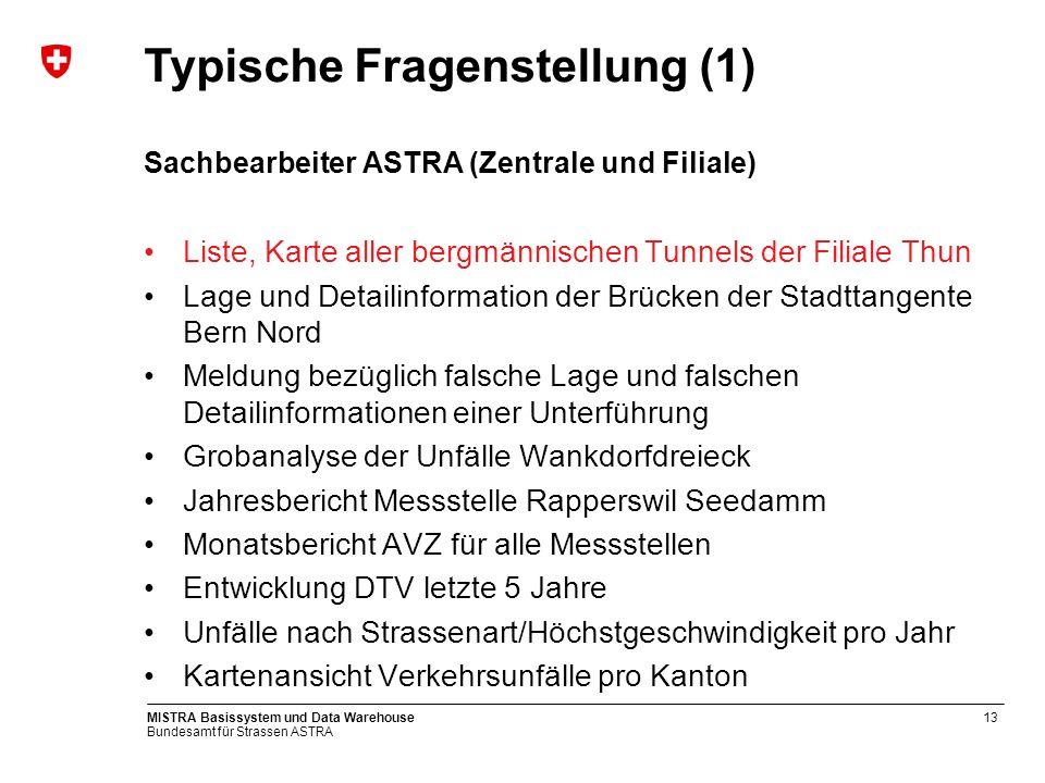 Bundesamt für Strassen ASTRA MISTRA Basissystem und Data Warehouse14 Kartensicht