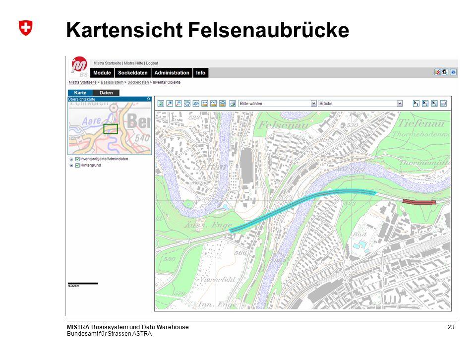 Bundesamt für Strassen ASTRA MISTRA Basissystem und Data Warehouse24 Fachnetz Signalisierte Geschwindigkeit