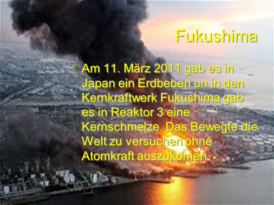 Fukushima Am 11.