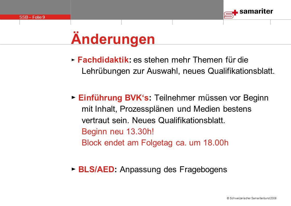 SSB – Folie 10 © Schweizerischer Samariterbund 2008 Weiteres Postendienst I: Vorbereitung auf Block Mit welchen Partnerorganisationen arbeitet ihr im Verein zusammen.